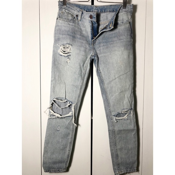 Urban outfitters BDG slim ripped BF low rise jeans